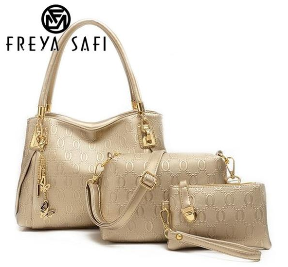 FREYA SAFI Designer Handbags - 3 Pieces Set