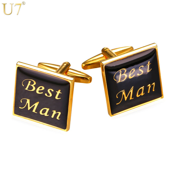 U7 Novelty Best Man Cufflinks with box