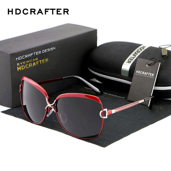 HDCRAFTER Women Luxury Retro Sunglasses