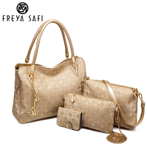 FREYA SAFI Designer Handbags - 4 Pieces Set