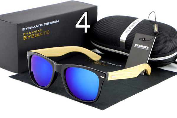 HDCRAFTER Fashionable Wood Sunglasses - 4 Colors