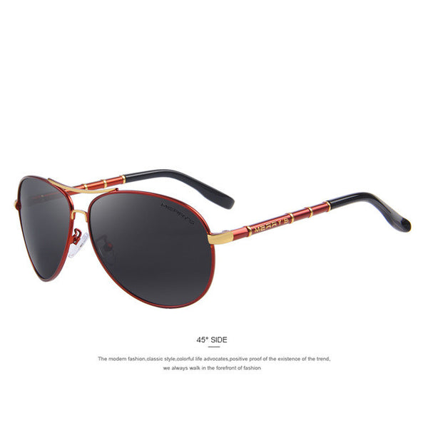 MERRY'S Men Classic Polarized Aviation Sunglasses