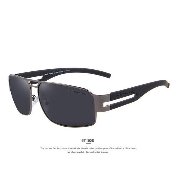 MERRY'S Men Aluminum Polarized Sunglasses