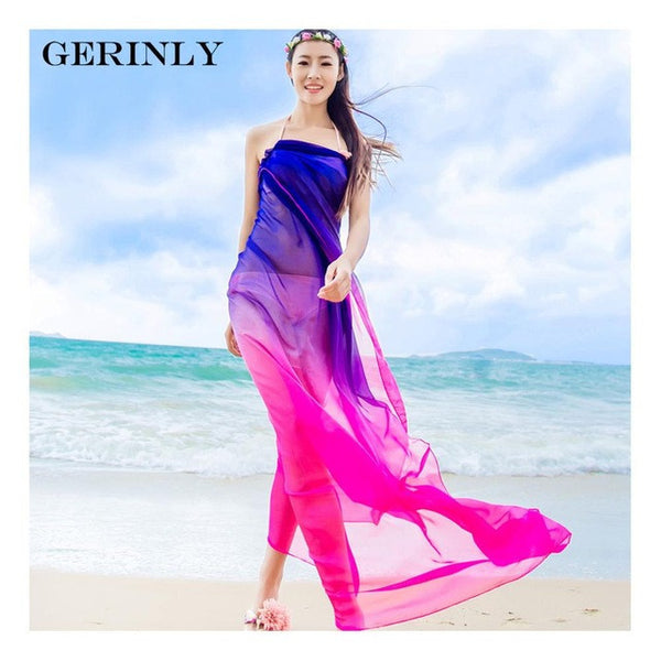 Sarong Two Tone Beach Wrap - 3 Colors