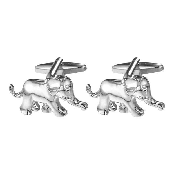 U7 Novelty Elephant Cufflinks with box
