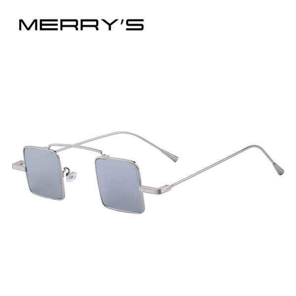 Silver square sunglasses