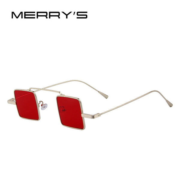 MERRY'S Vintage unisex Steampunk Square Sunglasses
