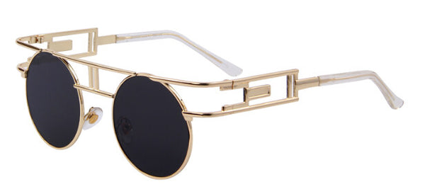 MERRY'S Unisex Steampunk Round Sunglasses
