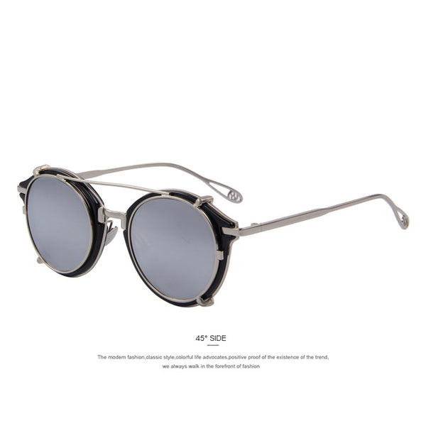 MERRY'S Women Vintage-style Flip Sunglasses with Separable Lens - 7 Colors
