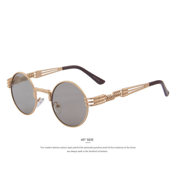 MERRY'S Unisex Vintage-style Steampunk Round Sunglasses