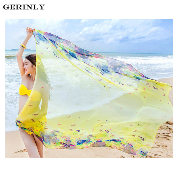 Sarong Cute Fish Print Beach Wrap - 2 Colors