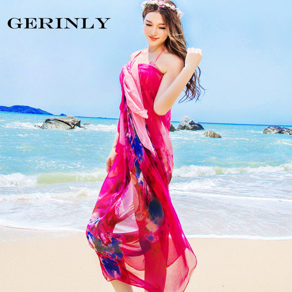 Sarong Abstract Floral Print Beach Wrap - 2 Colors