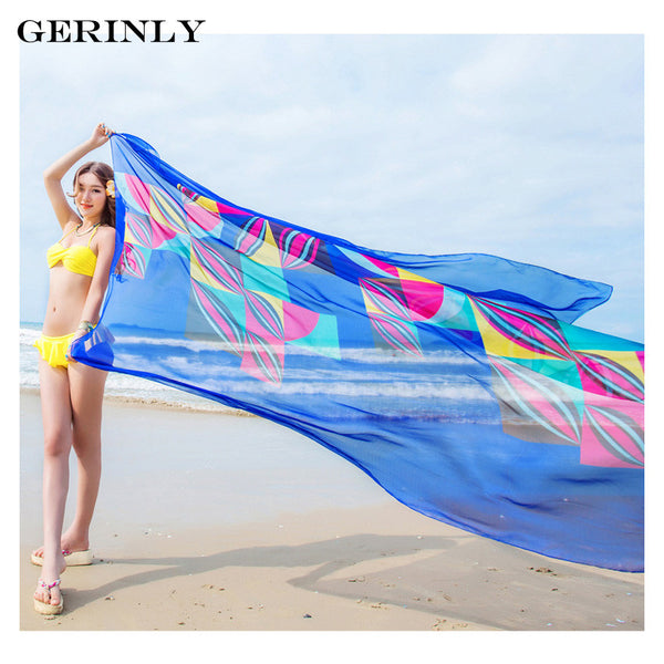 Sarong Geometrical Print Beach Wrap - 4 Colors