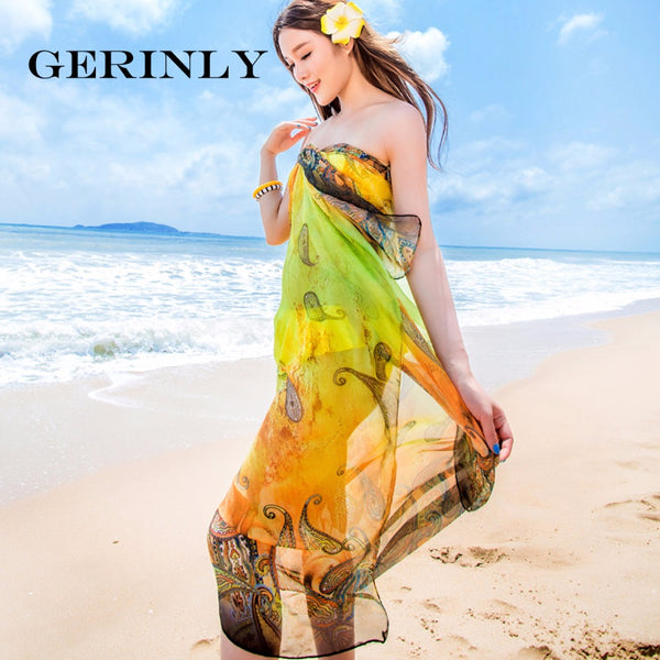 Sarong Abstract Paisley Print Beach Wrap - 5 Colors