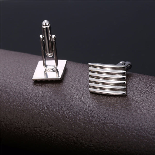 U7 Classic Square Cufflinks with box