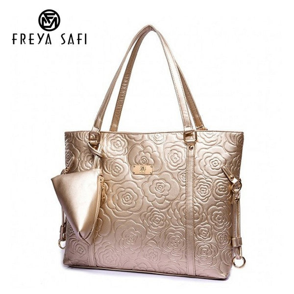 FREYA SAFI Floral Leather Messenger Handbag With Small Wallet