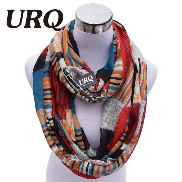 Elegant Infinity Plaid Print Viscose Scarves - 3 Colors