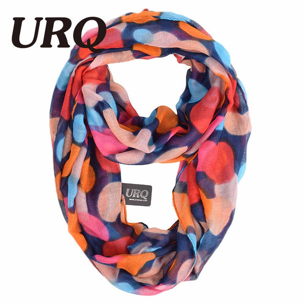 Elegant Infinity Polka Dots Viscose Scarves - 2 Colors