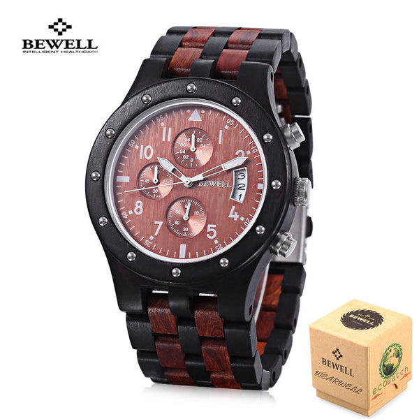 BEWELL Natural Sporty Wood Watches - 3 Colors