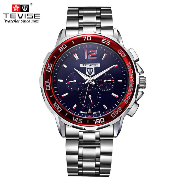 TEVISE Sporty Stainless Steel Automatic Self-Wind Mechanical Watches