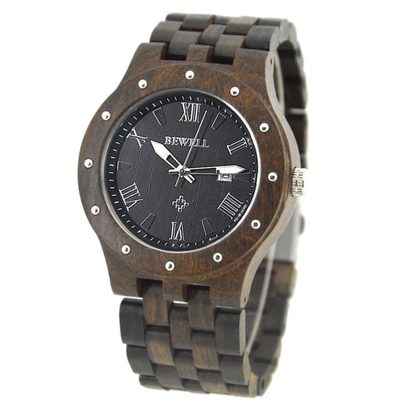 BEWELL Classic Round Wood Watches - 5 Colors