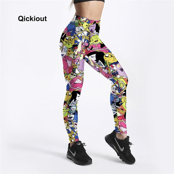 Adventure Time Cartoon Printed Leggings - 9 Designs