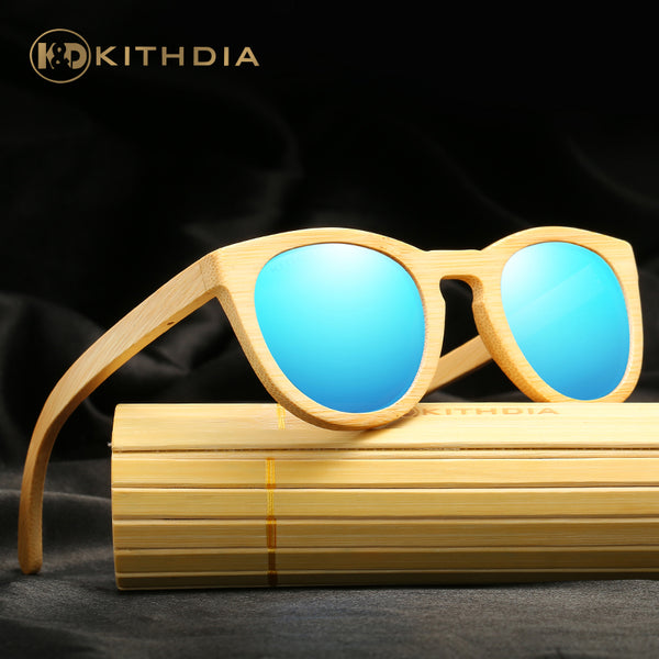KITHDIA CatEye Bamboo HD Polarized Sunglasses - 5 Colors