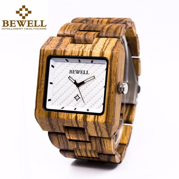 BEWELL Luxury Square Wood Watches - 3 Colors