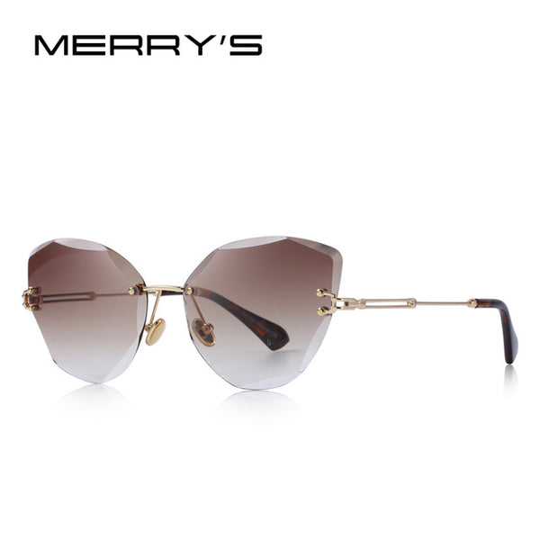 MERRY'S Women Cat-Eye Rimless Style Sunglasses