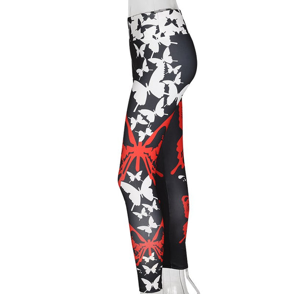 Fitness Push Up Butterfly Printed Leggings - 2 Colors