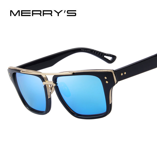 MERRY'S Unisex Vintage-style Square Sunglasses
