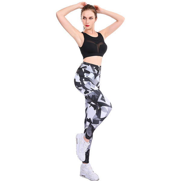 Fitness Push Up Digital Printed Leggings