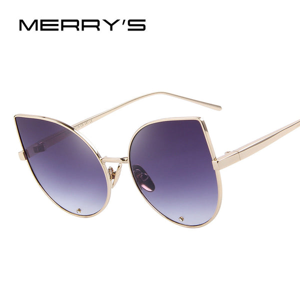 MERRY'S Women Cat-Eye Style Sunglasses w/ Diamond Encrusted Lens