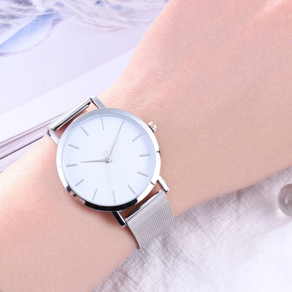 Stylish Elegant Quartz Watch - 4 Colors