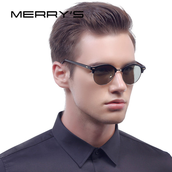 MERRY'S Men Retro Polarized Sunglasses