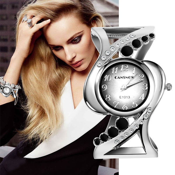 Luxury Rhinestone Bracelet Wrist Watches - 4 Colors