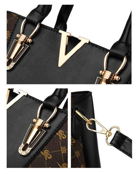 Two Pieces Set Leather Handbags
