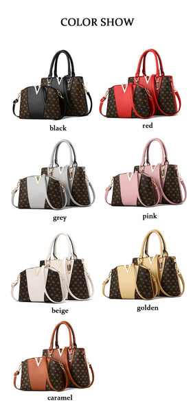 Two Pieces Set Leather Handbags - 7 Colors