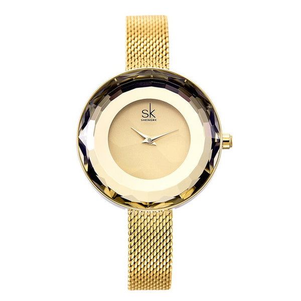 High Fashion Refractive Surface Watches - Gold or Silver