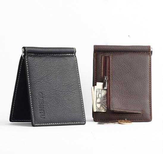 Business Ultra-Slim Style Wallets with Money Clip