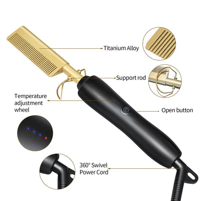 Ondulé - 2 in 1 Hair Curler and Straightener Comb