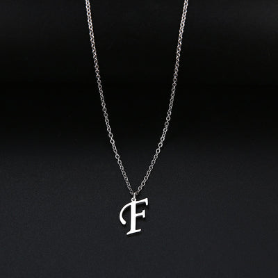 A-Z Letter Pendant Necklace - 18""