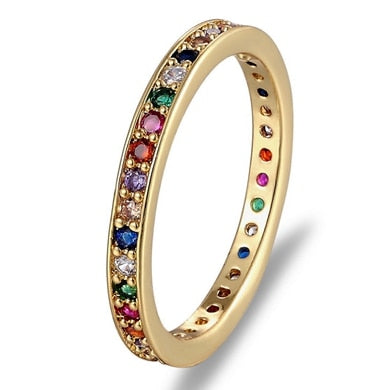 Colorful Band Eternity Ring