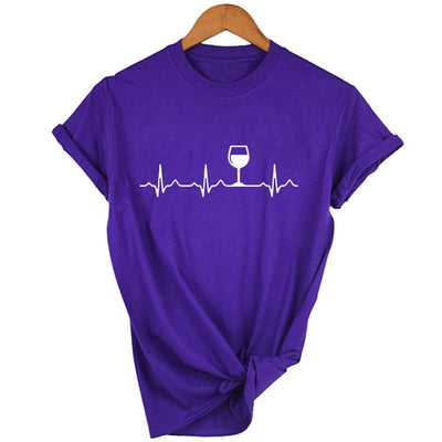 Wine Heartbeat Tee