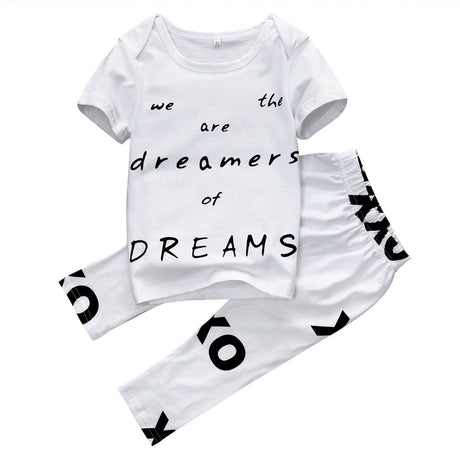 Baby Boy Clothing Set Outfits Short Sleeve T-shirt+Pants Kids Clothes Set 0-3Y - The Kids Line