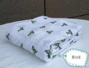 Muslin Blanket Baby Infant Newborn Blanket Baby Wrap Baby Swaddle 100% Cotton - The Kids Line
