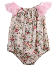 Newborn Infant Baby Girl Lace Patchwork Floral Romper Jumpsuit Outfits Sunsuit Clothes - The Kids Line