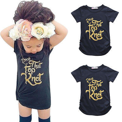 Top Knot Girl Tee