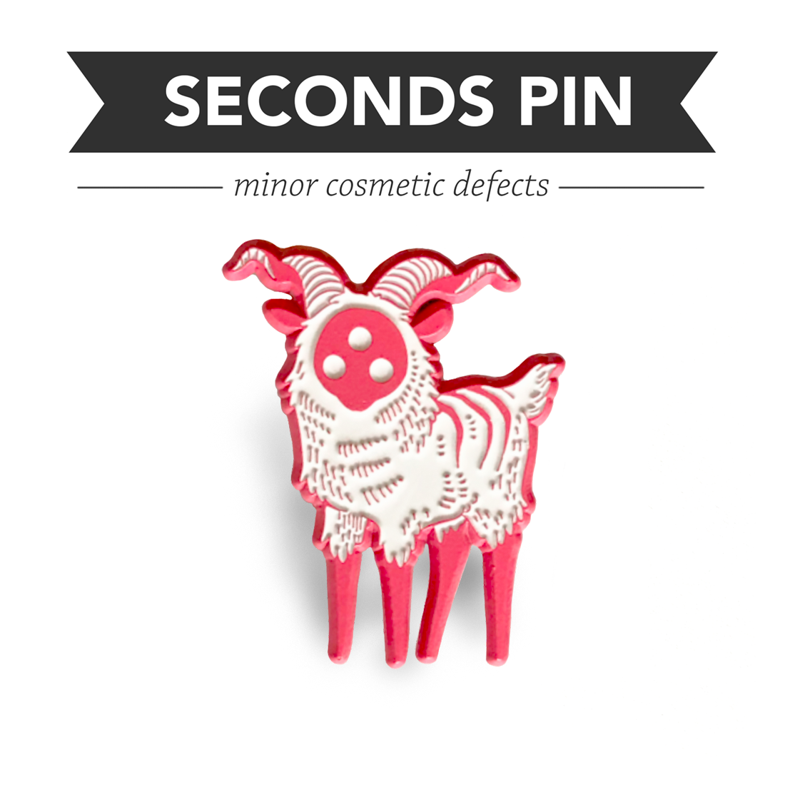 Bighorn Pin – Pink – Seconds