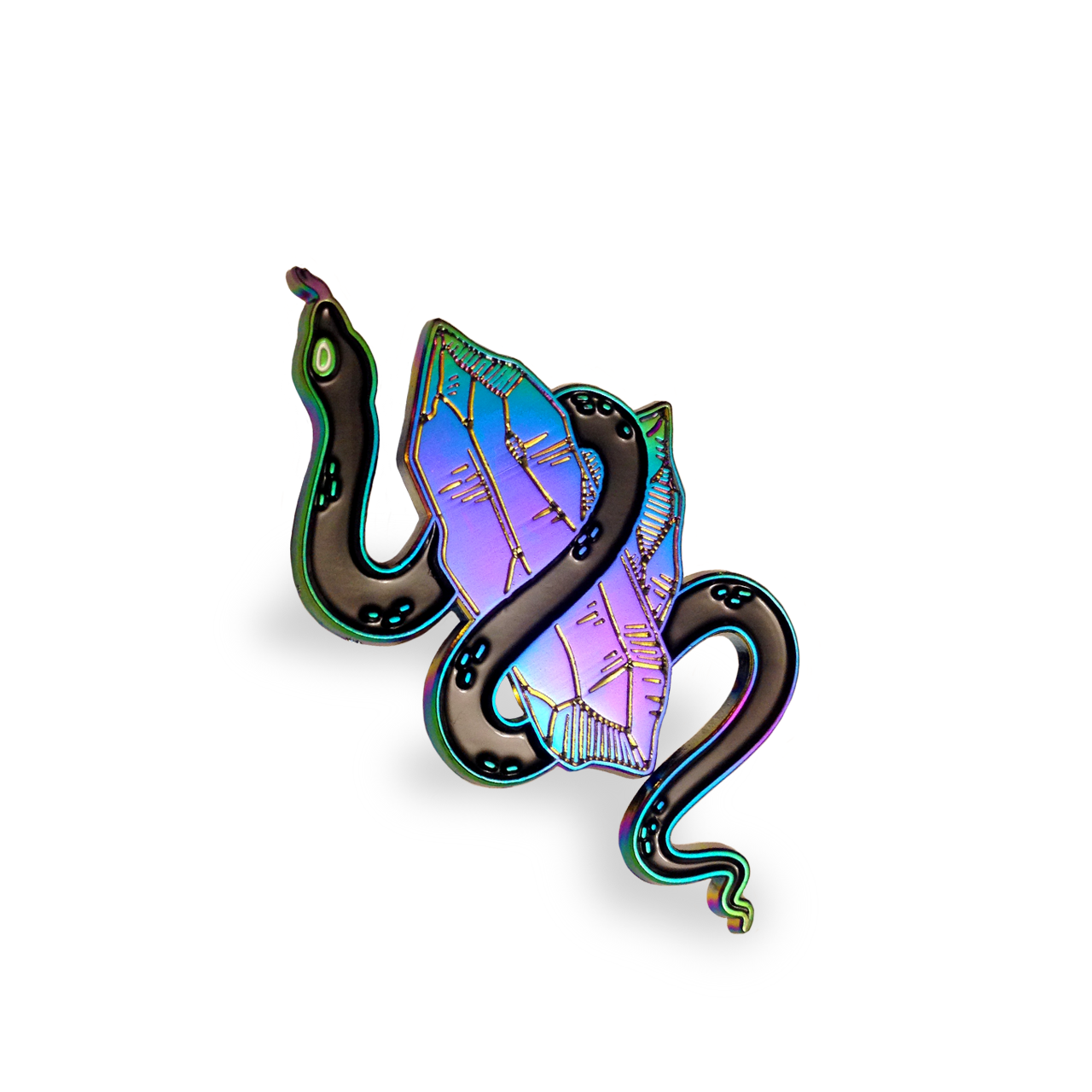 Crystal Snake Pin – Rainbow